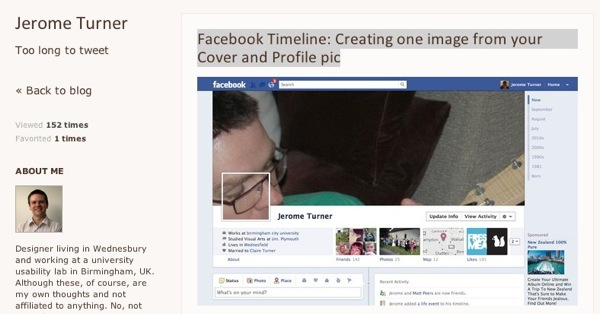Facebook Timeline Creating one image from your Cover and Profile pic  Jerome Turner